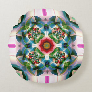 Melody in Abstract Round Cushion