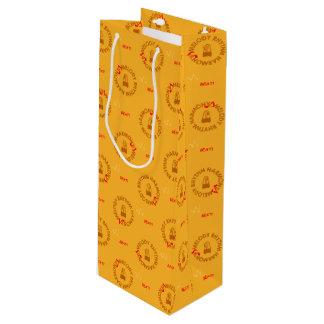 MELODY RHYTHM HARMONY (yellow) Wine Gift Bag