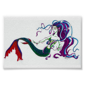 Melody's Mermaid Poster