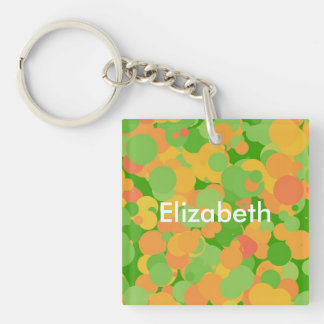 Melon Balls Double-Sided Square Acrylic Key Ring