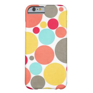 Melon, Blue, Yellow, Pink, Gray Polka Phone Case