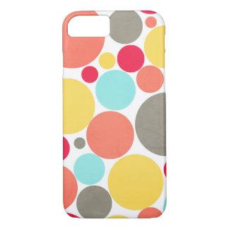 Melon, Blue, Yellow, Pink, Grey Polka Phone Case