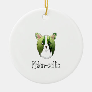 melon collie ceramic ornament