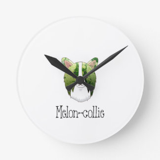melon collie round clock