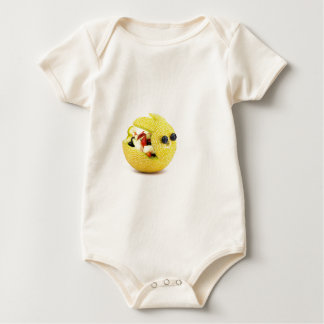 Melon Easter bunny filled with summer fruit Baby Bodysuit
