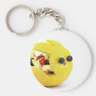 Melon Easter bunny filled with summer fruit Key Ring