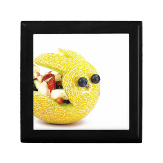 Melon Easter bunny filled with summer fruit Small Square Gift Box