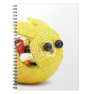 Melon Easter bunny filled with summer fruit Spiral Notebook