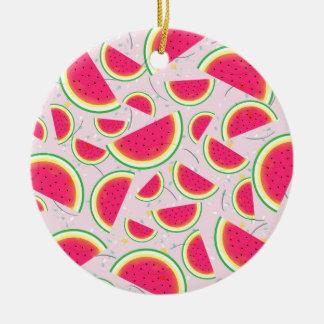 Melon Fiesta Pattern Ceramic Ornament