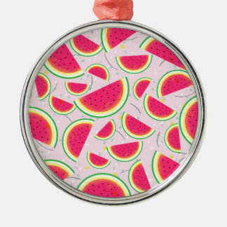 Melon Fiesta Pattern Metal Ornament