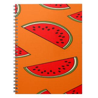 Melon fruit pattern notebook