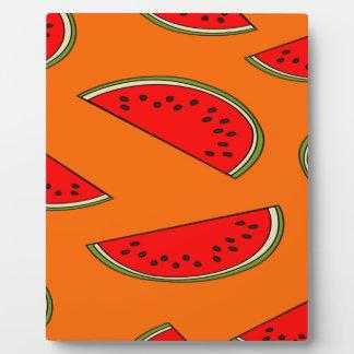 Melon fruit pattern plaque