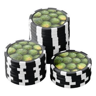 Melon fruit pattern poker chips