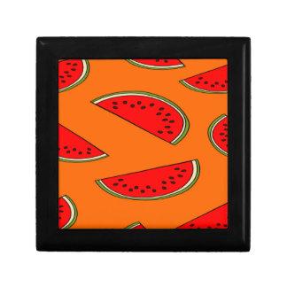 Melon fruit pattern small square gift box