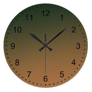 Melon Green Peach Ombre Clock