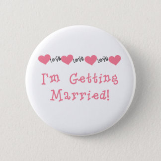Melon Hearts I'm Getting Married 6 Cm Round Badge