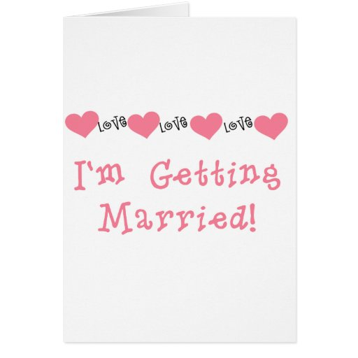 Melon Hearts I'm Getting Married Cards