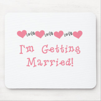 Melon Hearts I'm Getting Married Mouse Pad