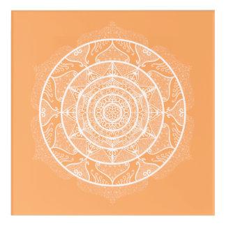 Melon Mandala Acrylic Wall Art