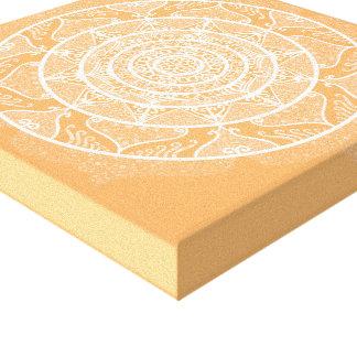 Melon Mandala Canvas Print