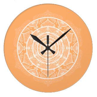 Melon Mandala Large Clock