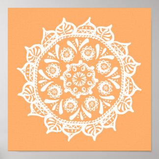 Melon Mandala Poster