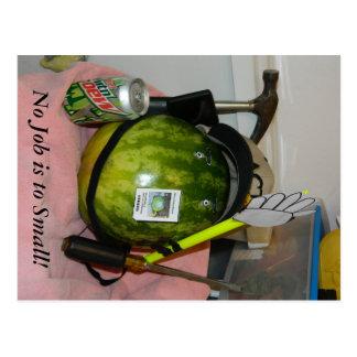 Melon No Job is to Small Postcard