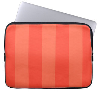 Melon Orange Stripes Electronics Bag Laptop Computer Sleeves