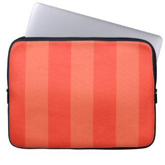 Melon Orange Stripes Electronics Bag Laptop Computer Sleeves