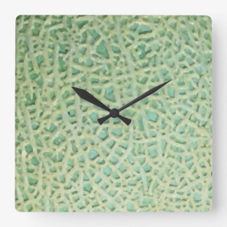 melon pattern square wall clock