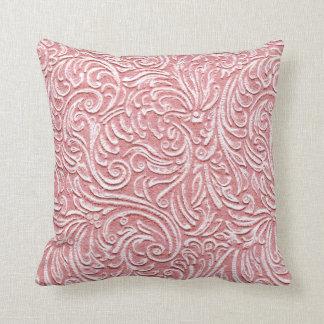 Melon Pink Vintage Tile 3D Look Kawaii Beach Home Throw Cushion