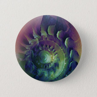 Melon Shell Abstract 6 Cm Round Badge