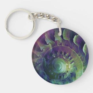 Melon Shell Abstract Key Ring