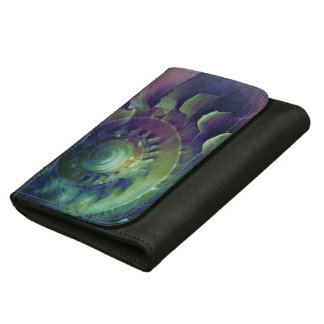 Melon Shell Abstract Leather Wallet