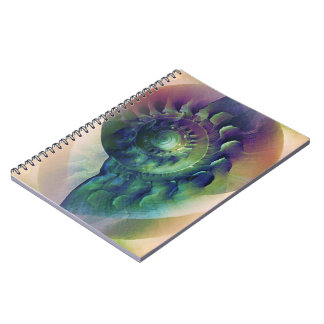 Melon Shell Abstract Spiral Notebook