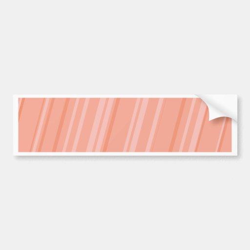 Melon Stripes Bumper Stickers