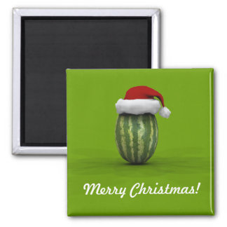 Melon With Santa Hat Magnet