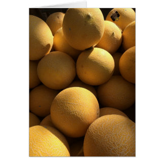 Melons in Yellow Glow Card
