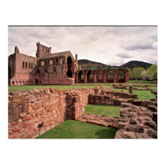 Melrose Abbey, Scotland Postcard