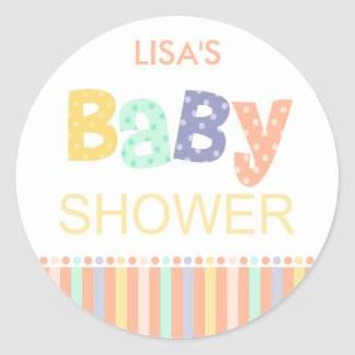 Melrose Baby Shower Stickers
