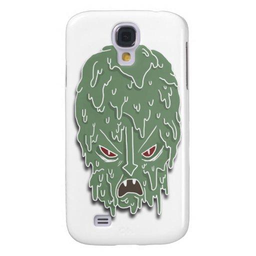 Melt Evil Head (white) Galaxy S4 Case