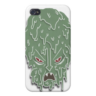 Melt Evil Head (white) iPhone 4 Covers