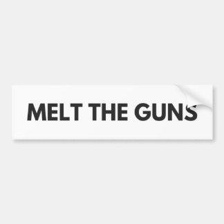 Melt the Guns Bumper Sticker