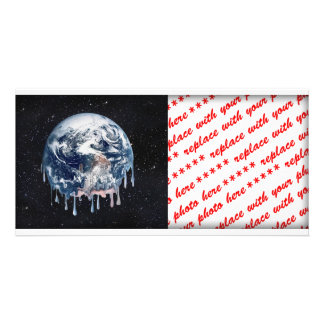 Meltdown Full Universe Background Personalized Photo Card