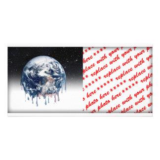 Meltdown Half Universe Background Photo Card Template