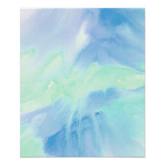 Melted 2 Acrylic Watercolor Poster