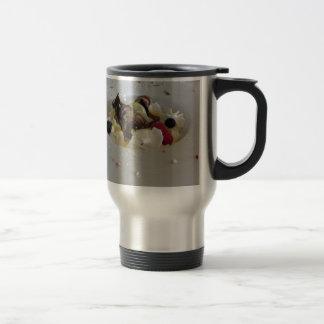 Melted chocolate ball with zabaglione cream travel mug