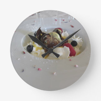 Melted chocolate ball with zabaglione cream wallclock