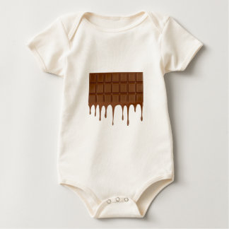 Melted chocolate bar baby bodysuit