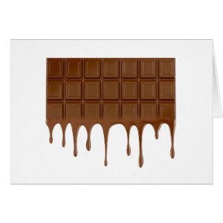 Melted chocolate bar card